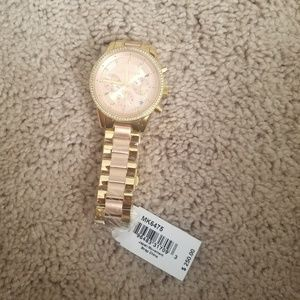 Nwt gold & rose gold Michael Kors MK6475 watch